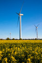 Wind Turbine - alternative and green energy source Royalty Free Stock Photo