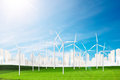 Wind Turbine Clean Nature Ecology Environment Concept Royalty Free Stock Photo