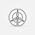 Wind turbine concept icon