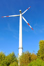 Wind turbine generating electricity Royalty Free Stock Images