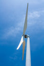 Wind turbine the generator the renewable energy Royalty Free Stock Photo