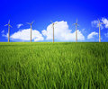 Wind turbine and landscape Stock Photos