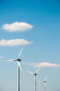 Wind turbine in rape field Royalty Free Stock Photo