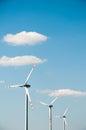 Wind turbine in rape field Royalty Free Stock Photo