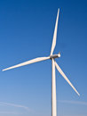 Wind turbine renewable energy close up of a against a blue sky tilbury england Royalty Free Stock Photography