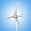 Wind turbine small for generating free energy Royalty Free Stock Images