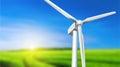 Wind turbine summer landscape Royalty Free Stock Photo