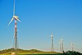 Wind turbine towers Stock Images