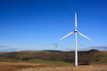 Wind turbine in Wales Stock Image