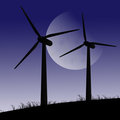 Wind turbines. Stock Image