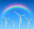 Wind turbines background Royalty Free Stock Photo
