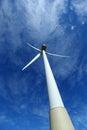 Wind turbines farm in spain Royalty Free Stock Photo