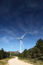 Wind turbines farm in spain Royalty Free Stock Image