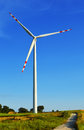 Wind turbines farm windmill on the field Royalty Free Stock Photo