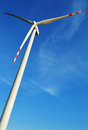 Wind turbines farm windmill over the blue sky Royalty Free Stock Photos