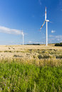 Wind Turbines And Fields Royalty Free Stock Photo