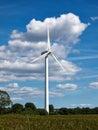 Wind turbines generating electricity alternative renewable energy Royalty Free Stock Photos