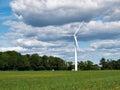 Wind turbines generating electricity alternative renewable energy Stock Image
