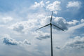 Wind turbines generating electricity copy space Stock Photo