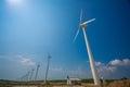 Wind turbines generating electricity in Sri Lanka Royalty Free Stock Photo