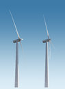 Wind turbines isolated Royalty Free Stock Photo