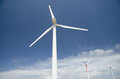 Wind turbines in Italy. Royalty Free Stock Photo