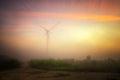 Wind turbines near cape Kaliakra, Bulgaria Royalty Free Stock Photo