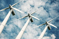 Wind turbines renewable energy Royalty Free Stock Photo