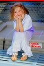Windblown Little Girl Royalty Free Stock Photo