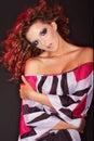 Windblown Redheaded Woman Royalty Free Stock Photography
