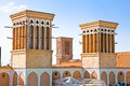 Windcatcher of an house in Yazd city Stock Image