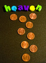 Windfall: pennies from heaven ? Royalty Free Stock Photo