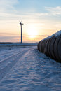Windfarm green energy in winter Stock Image