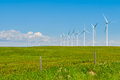 Windfarm in the scenic prairies alberta canada Royalty Free Stock Images