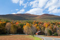 Winding country road through the Catskill mountains of New York. Royalty Free Stock Photo