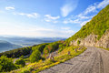Winding mountain road in Balkan Mountains Royalty Free Stock Photo