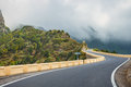 Winding and narrow road in Anaga Mountains, Tenerife Royalty Free Stock Photo