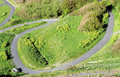 Winding path on a hillside Royalty Free Stock Photo