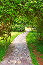 The winding path leads to a secluded quiet place image taken in china s yunnan province xishuangbanna prefecture,tropical Royalty Free Stock Photography