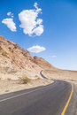 Winding road artists drive in the death valley Royalty Free Stock Photo