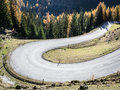 Winding road country in austria Stock Images