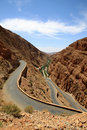 Winding road through Dades gorge Royalty Free Stock Photo
