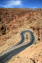 Winding road through Dades gorge Royalty Free Stock Photos