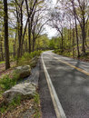 Winding Road in Harriman State Park, New York, USA Royalty Free Stock Photo