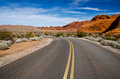 A winding road nevada through the valley of fire state park Stock Image
