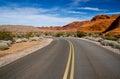 A winding road, Nevada Royalty Free Stock Photo
