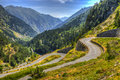 Winding Road in Pyrenees Mountains Royalty Free Stock Photo