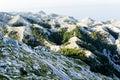 Winding road to sv. Jure peak in Biokovo mountains. Royalty Free Stock Photo