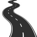 Winding road vector illustration of Stock Photo