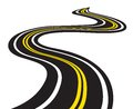 Winding road vector illustration of Stock Image